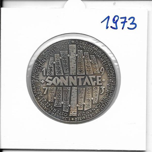 1973 Kalendermedaille Jahresregent Bronze versilbert