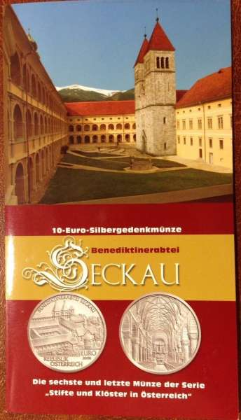 10 Euro Silber 2008 Benediktinerabtei Seckau HgH ANK Nr. 14