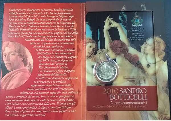 2 Euro San Marino 2010 500. Todestag von Sandro Botticelli