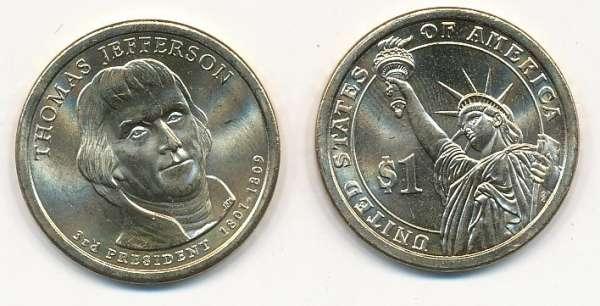 USA 1 Dollar 2007 P Thomas Jefferson (3)