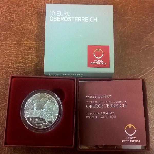 10 Euro Silber 2016 Oberösterreich PP Polierte Platte Ank. Nr.29