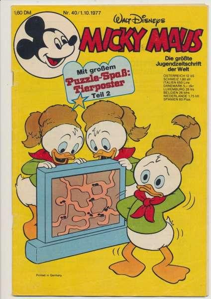 Micky Maus Nr. 40/1977