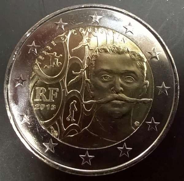 2 Euro Frankreich 2013 Pierre de Coubertin