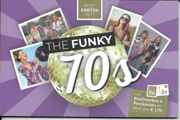 The Funky 70s Postkartenheft mit 2 Marken