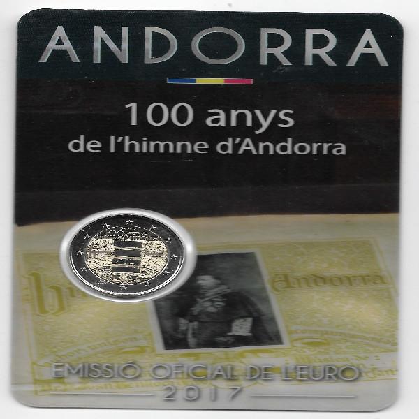 2 Euro Andorra 2017 100 Jahre Hymne