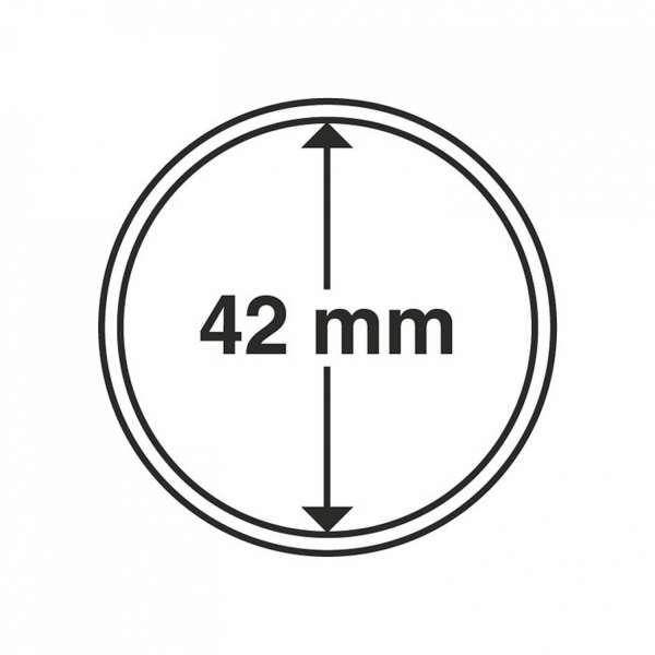 MÜNZKAPSELN CAPS 42 MM, 10 ER PACK