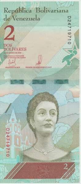 Venezuela – 2 Bolivares 15.1.2018, (P.101) Erh. UNC