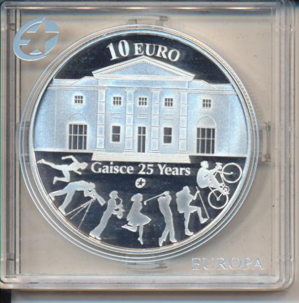 10 Euro Irland Eire 2010 PP 25 Years Gaisce Silber Ag Europa Stern