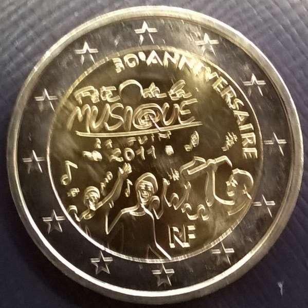 2 Euro Frankreich 2011 Fete de la Musique