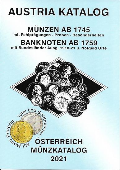 ANK Münzkatalog 2021 Austria Katalog