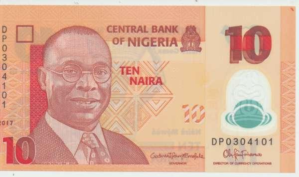 Nigeria - 10 Naira 2017 UNC - Pick 39h