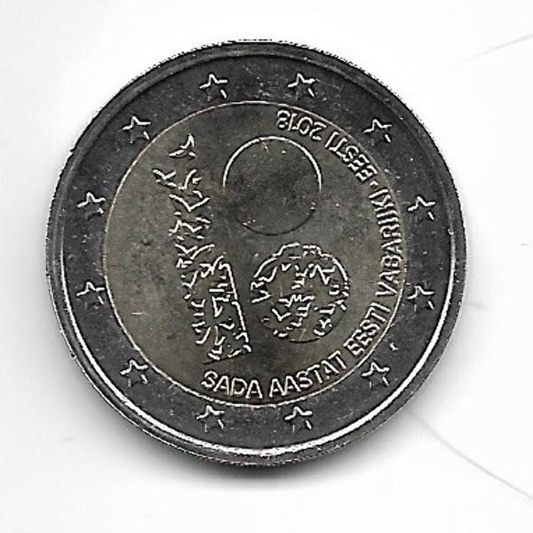 2 Euro Estland 2018 100 Jahre Unabhängigkeit