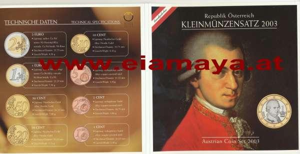 2003 offizieller Kursmünzensatz KMS Mintset