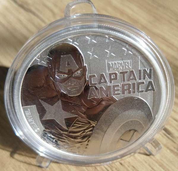 Tuvalu 1 Dollar 2019 Marvel Captain America 31,1g Silber Unze