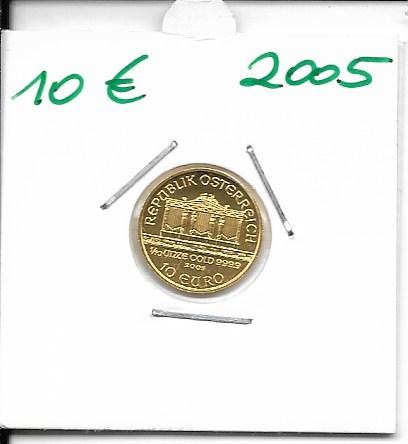 2005 Philharmoniker 1/10 Unze 10 € Euro 3,11 Gramm
