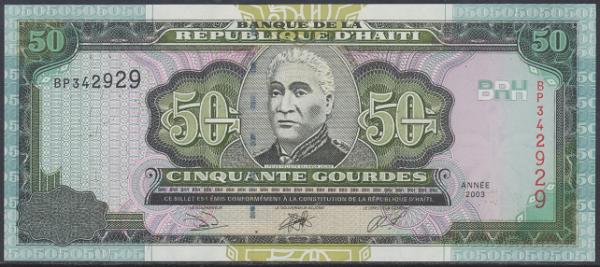 Haiti - 50 Gourdes 2003 UNC - Pick 267