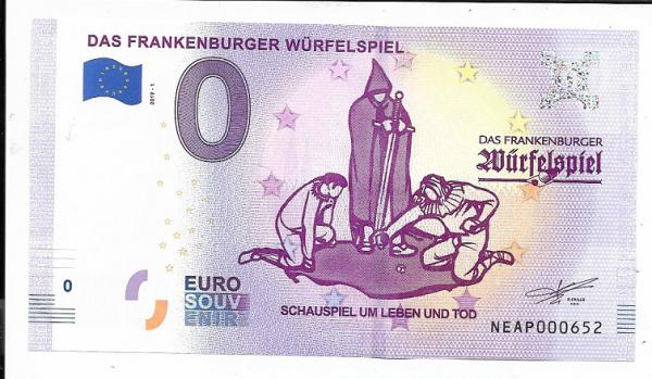 ANK.Nr.23 Das Frankenburger Würfelspiel Unc 0 Euro Schein 2019-1