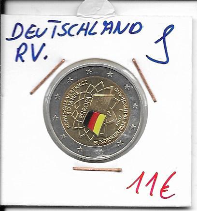 2 Euro Deutschland 2007 Römische Verträge J Coloriert