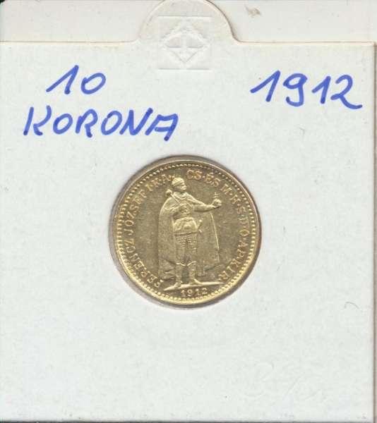 10 Korona 1912 KB Franz Joseph I Gold