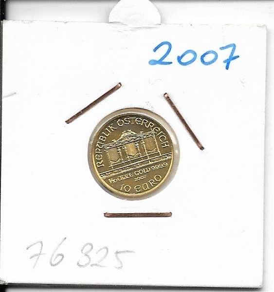 2007 Philharmoniker 1/10 Unze 10 € Euro 3,11 Gramm