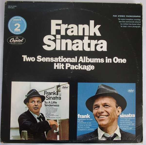 Frank Sinatra 2-LP's EX+ 2 Sensational Albums In One Hit Package Spcb-3490