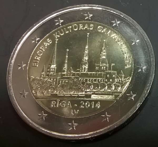 2 Euro Lettland 2014 Riga