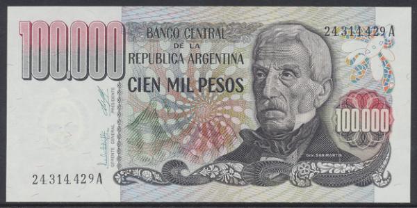 Argentinien – 100.000 Pesos (1979-83) (P.308) Erh. UNC