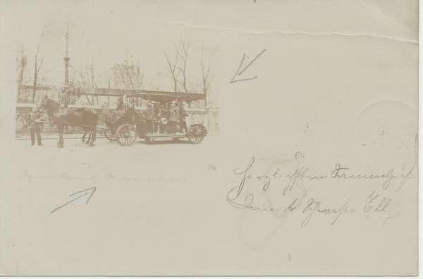 Feuerwehr Deutsche Reichspost Postkarte ca.1899