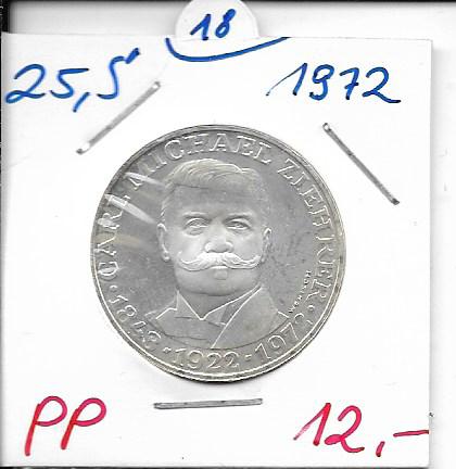 25 Schilling 1972 Carl Michael Ziehrer PP ANK Nr. 018