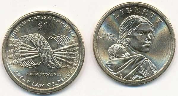 1 Dollar USA 2010 P Sacagawea - Nativ Dollar