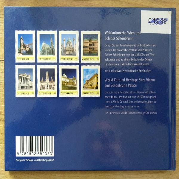 Briefmarkenbuch Weltkulturerbe Wien mit 8 exklusiven Marken