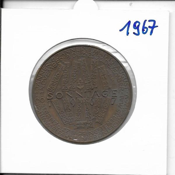1967 Kalendermedaille Jahresregent Bronze