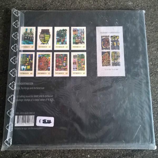 Briefmarkenbuch Stamp Book Hundertwasser II including 8 exclusive 65 Cent Stamps