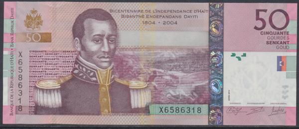 Haiti - 50 Gourdes 2010 UNC - Pick 274