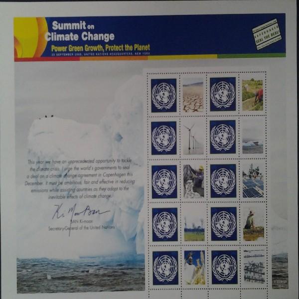 UNO New York GRUSSMARKEN 98 CENT BOGEN 2009 Postfrisch (8)