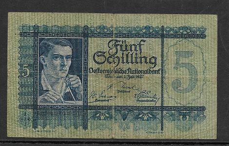 5 Schilling 1 Juli 1927 Ank.Nr.218 Nr. 1046 046857