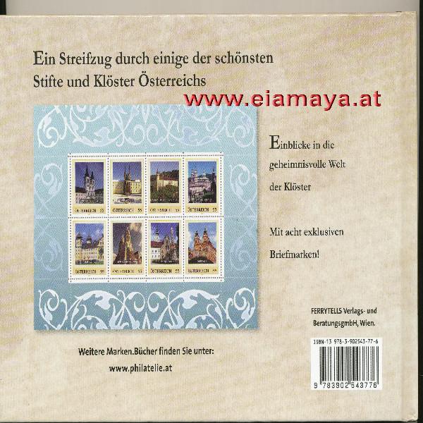 Briefmarkenbuch Stifte und Klöster in Österreich mit 8 Briefmarken