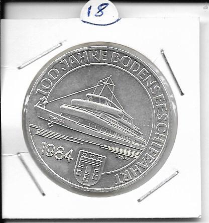 ANK Nr. 18 100 Jahre Österreichische Bodenseeschiftfahrt 1984 500 Schilling Silber Normal
