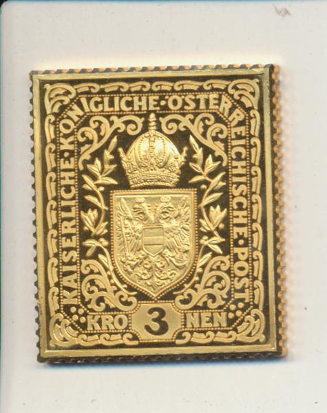 K&K Jubiläums Collection Österreich K&K Wappen und Krone 3 Kronen 1916 Silber Gold