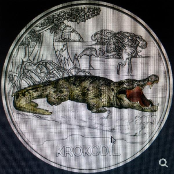ANK Nr. 03 Tiertaler 3 Euro Österreich Krokodil 2017