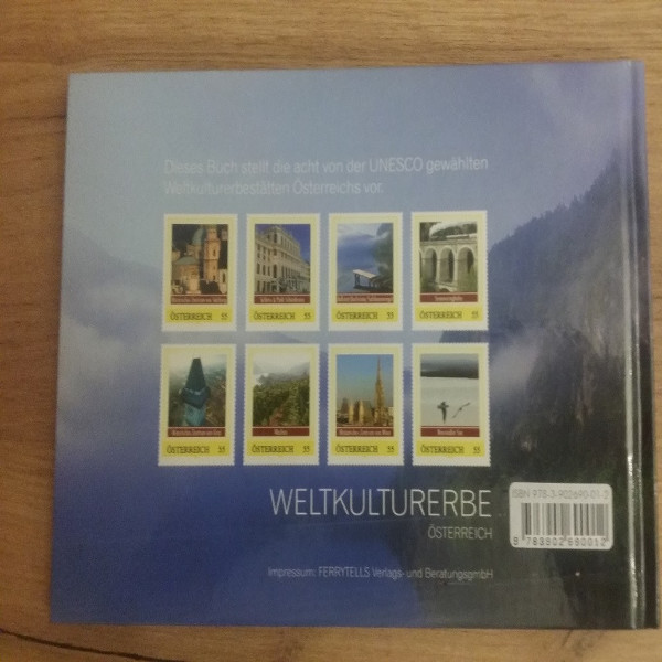 Briefmarkenbuch Weltkulturerbe Österreich mit 8 exklusiven Marken