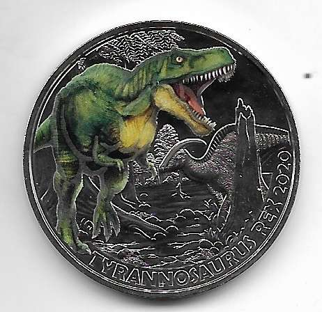 3 Euro Dino - Taler 2020 Tyrannosaurus Rex Österreich