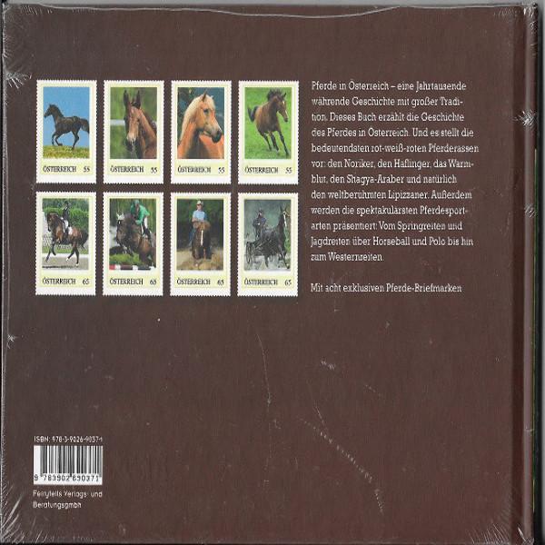 Briefmarkenbuch Pferde in Österreich mit 8 exklusiven Marken