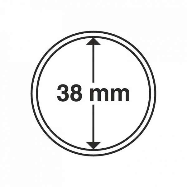 MÜNZKAPSELN CAPS 38 MM, 10 ER PACK