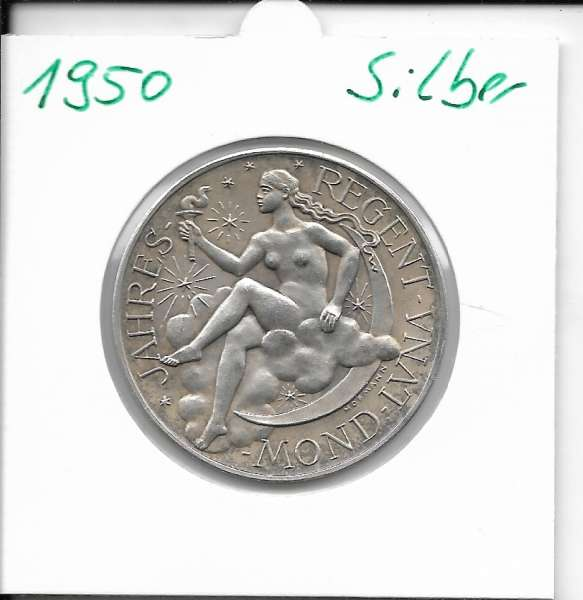 1950 Kalendermedaille Jahresregent Silber