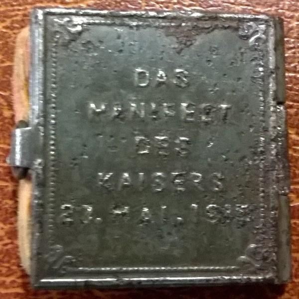 Miniaturbüchlein 1. Weltkrieg, Kaiser Franz Josef: Manifest 23 Mai 1915