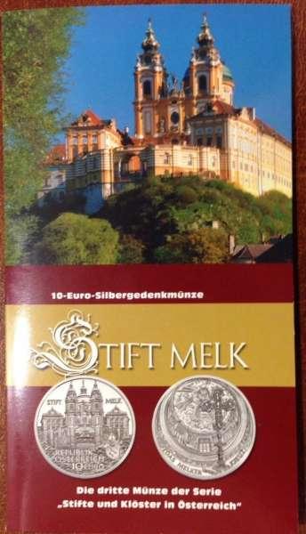 10 Euro Silber 2007 Stift Melk HgH ANK Nr. 11