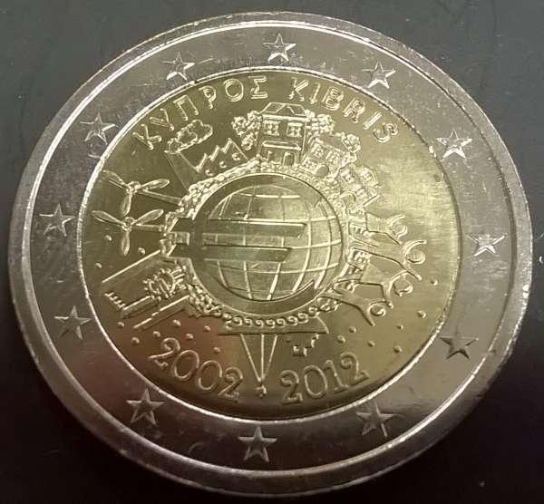 2 Euro Zypern 2012 10 Jahre Euro