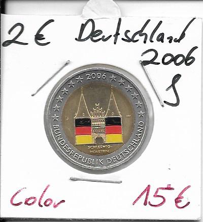 2 Euro Deutschland 2006 Holstentor J Coloriert