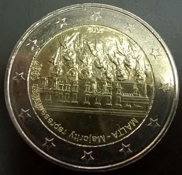 2 Euro Malta 2012 Mehrheitswahlrecht von 1887
